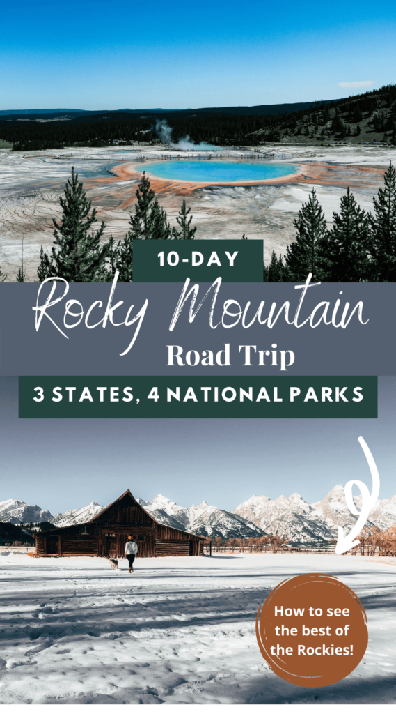 This Rocky Mountain road trip is the best way to see the Rockies! It'll take you through Montana, Wyoming, and Colorado to see Glacier National Park, Yellowstone National Park, Grand Teton National Park, and Rocky Mountain National Park. This is one of the best USA road trips you can take! USA road trip | montana road trip | wyoming road trip | colorado road trip | USA travel | USA national parks | montana travel | wyoming travel | colorado travel