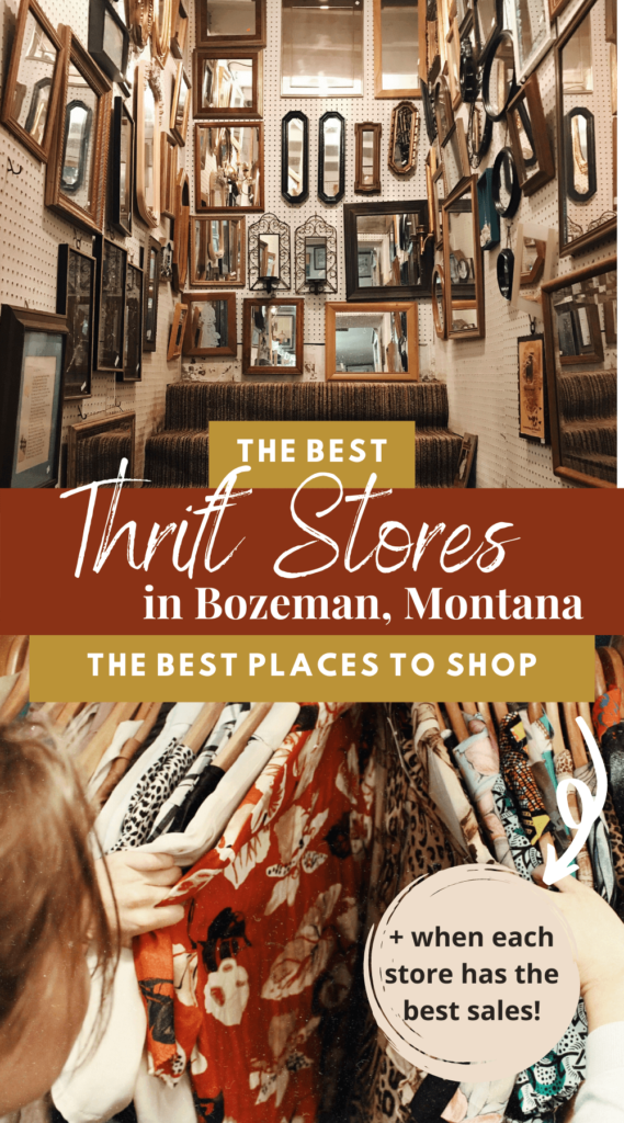 The Best Thrift Stores in Bozeman, Montana. This is where you should thrift shop in Bozeman, when to visit each store, and what you'll find there. Bozeman thrift stores | thrift shopping | Bozeman travel | Montana Travel | Montana thrift stores